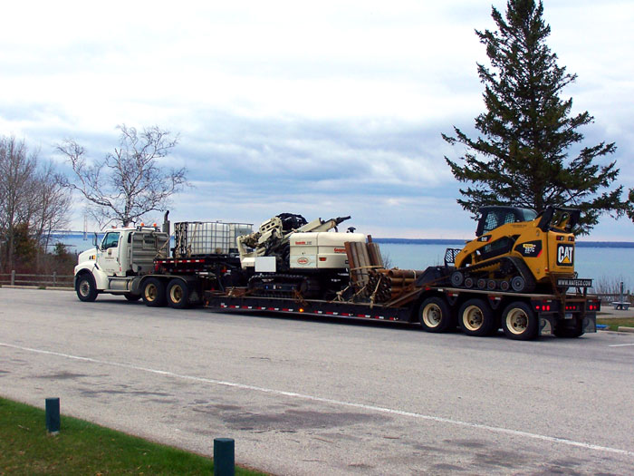 efficient mobilization capabilities to job sites with rigs and other various utilities needed