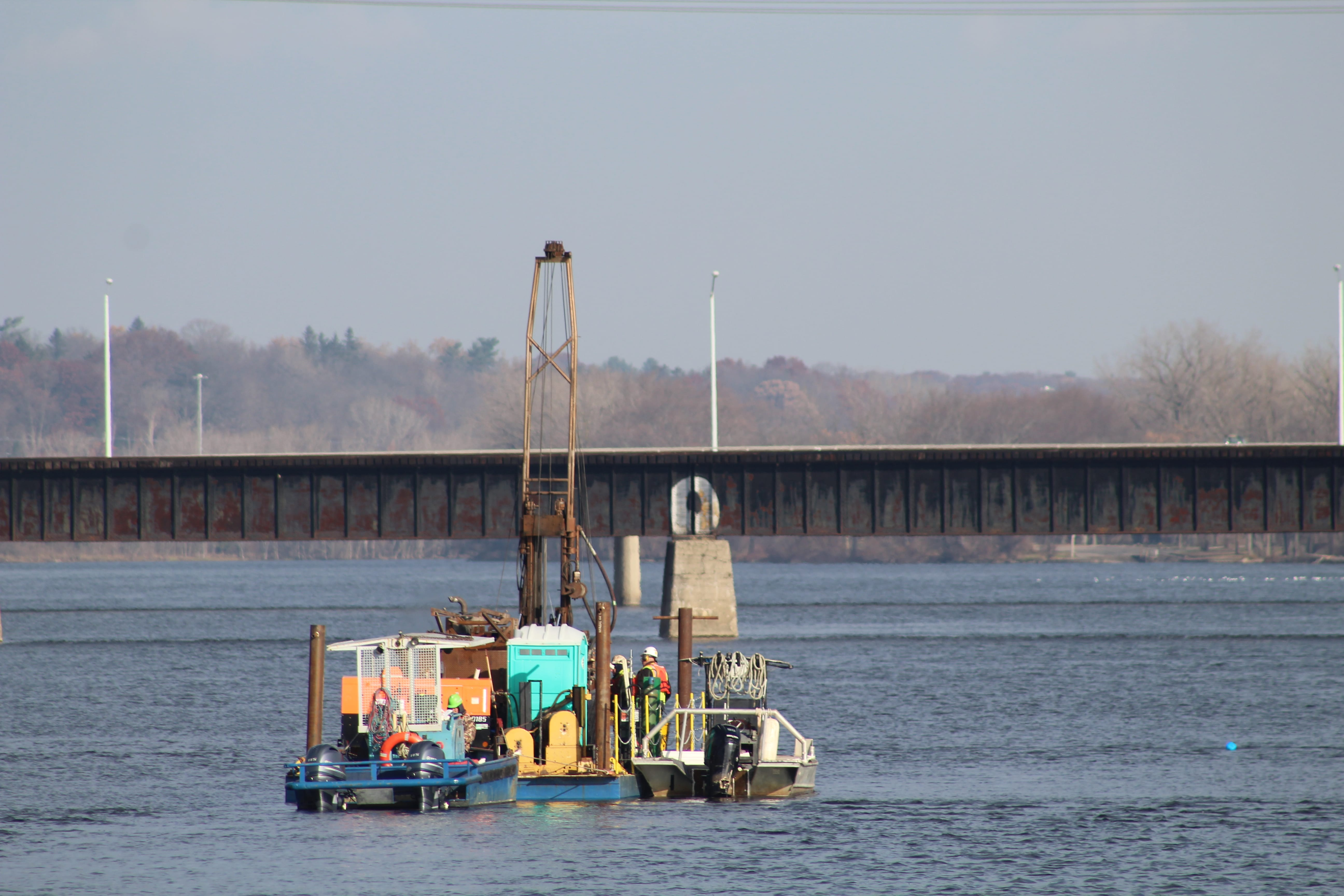 Over the water drilling capabilities