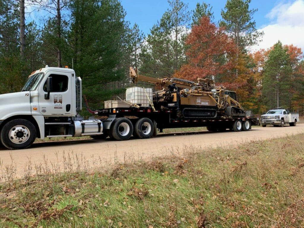 MATECO truck carrying environmental drilling equipment